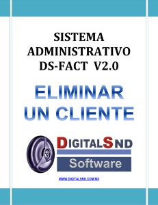 eliminar un cliente - Digital SND Software