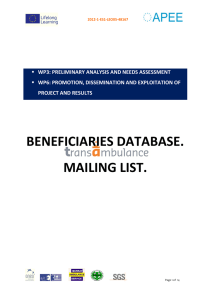 beneficiaries database. mailing list.