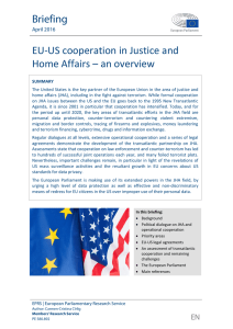 EU-US cooperation in Justice and Home Affairs – an overview