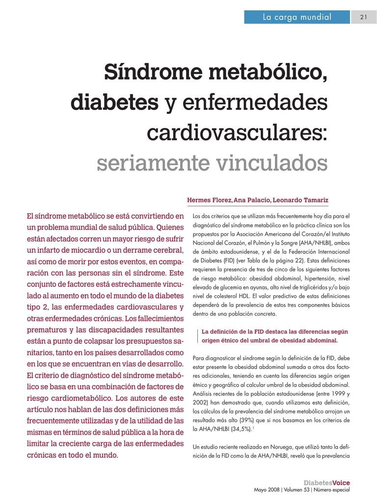 enfermedades vinculadas a la diabetes
