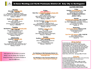Al-Anon Meeting List North Peninsula District 25 Daly City to
