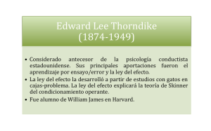 Edward Lee Thorndike (1874-‐1949)