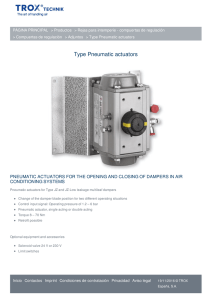 Type Pneumatic actuators