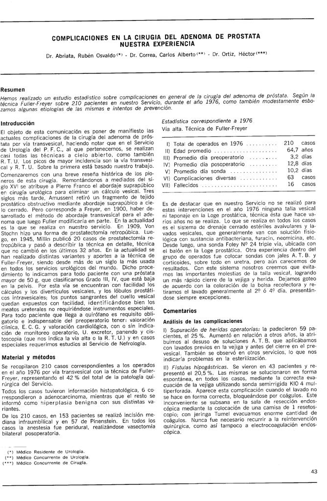 complicaciones rtu prostata pdf
