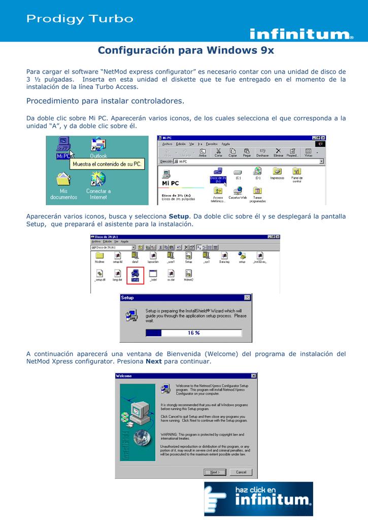 Configuración para Windows 9x