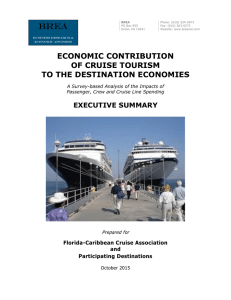 Economic Contribution of Cruise Tourism - The Florida