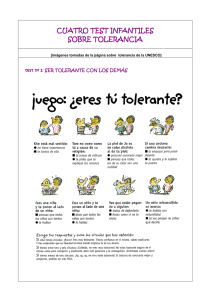 cuatro test infantiles sobre tolerancia