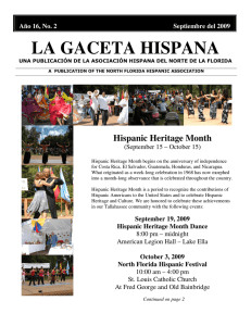 la gaceta hispana - The North Florida hispanic Association