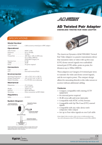 AD Twisted Pair Adapter
