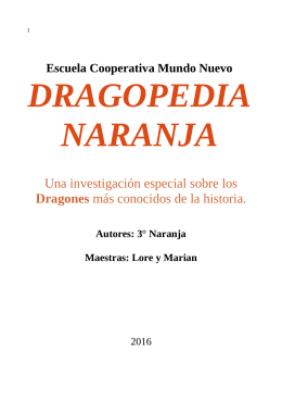 Dragopedia Naranja 2015