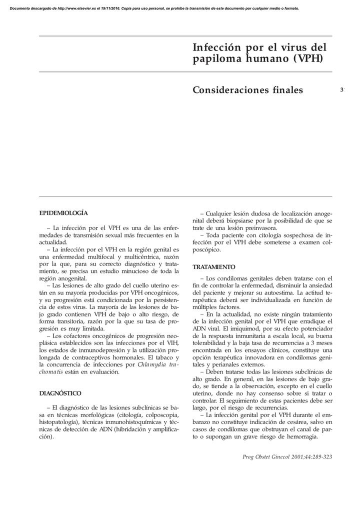 infeccion subclinica vph