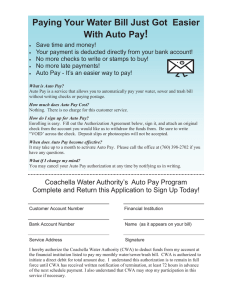 Auto Pay Flyer