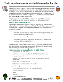 USDA fact sheet Spanish