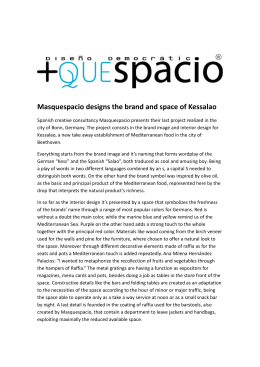 Masquespacio designs the brand and space of Kessalao