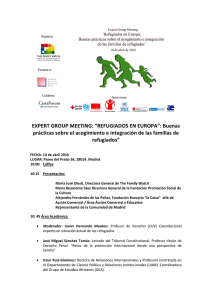 "EXPERT GROUP MEETING: ""REFUGIADOS EN"