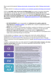 Ésta es parte del documento Diálogo estructurado: documento base