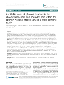 Avoidable costs of physical treatments for chronic back, neck and