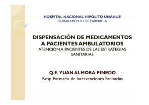 dispensación de medicamentos a pacientes ambulatorios