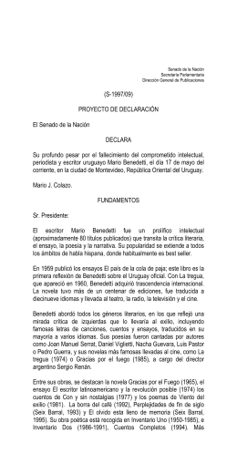 Mario Benedetti Inventario Cómplice