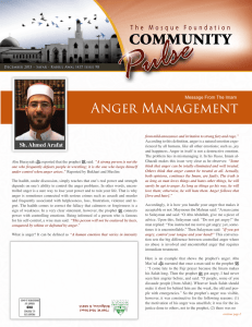 Anger Management - Mosque Foundation