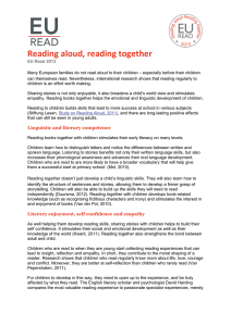 Reading aloud, reading together