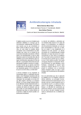 Antibioticoterapia inhalada