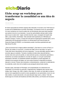 Elche acoge un workshop para transformar la casualidad en una