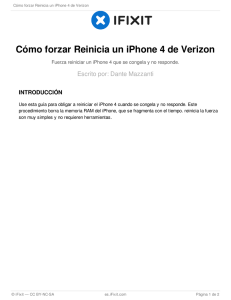 Cómo forzar Reinicia un iPhone 4 de Verizon