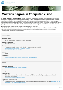 Master`s degree in Computer Vision