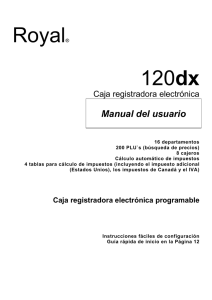 Royal® 120dx - Royal Consumer Information Products Mexico