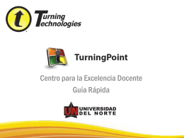 Guía rápida de Turning Point 5