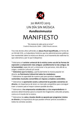 manifiesto - Doctor Music