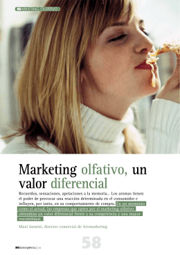 Marketing olfativo, un valor diferencial