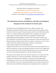 Research article 3 - Distinction between mindfulness