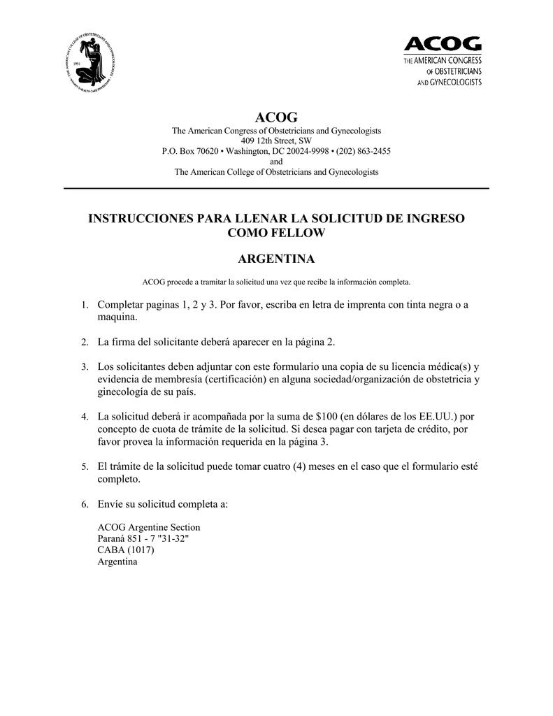 instrucciones para llenar la solicitud de ingreso como fellow