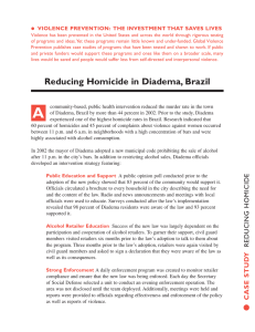 Preventing homicide - World Health Organization