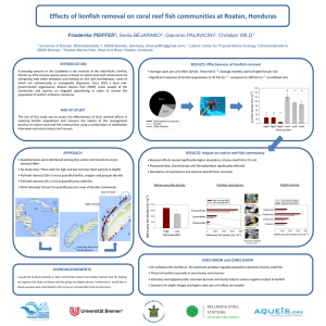 Effects of lionfish removal on coral reef fish communities at