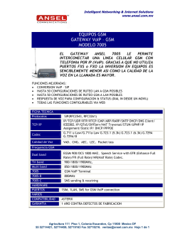 EQUIPOS GSM GATEWAY VoIP – GSM MODELO 7005