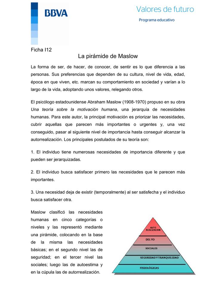 abraham maslow teoria de la motivacion humana pdf