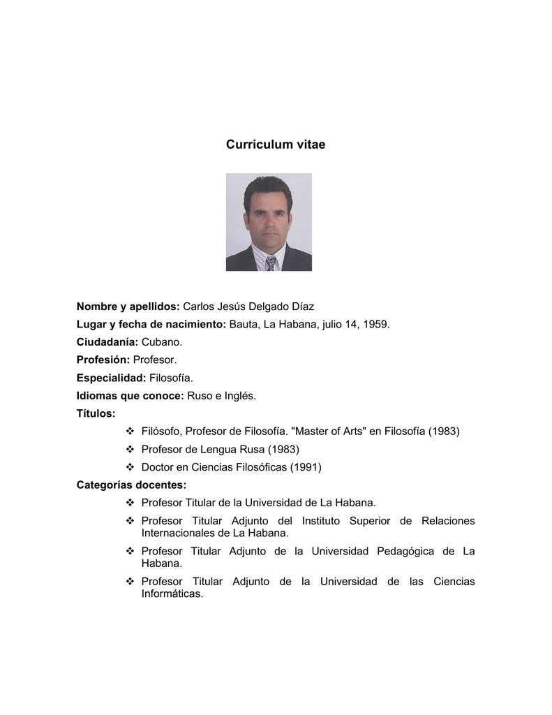 Famoso Curriculum Vitae Profesor Adjunto Composición - Ejemplo De ...