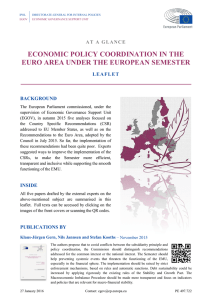 Economic policy coordination in the euro area under the European