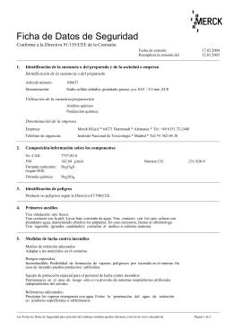 Ficha de datos de seguridad - Merck mollet del valles ...