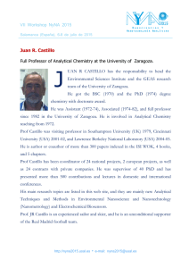 Juan R. Castillo Full Professor of Analytical Chemistry at the