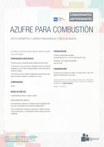 azufre combustion