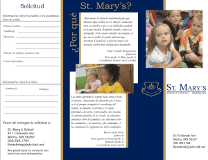 ¿P or qu é St. Mary`s?