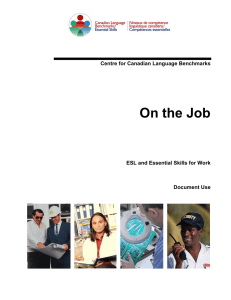 On the Job: ESL and Essential Skills for Work