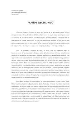 FRAUDE ELECTRONICO