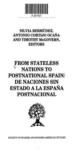 from stateless * nations to postnational spain/ de naciones sin