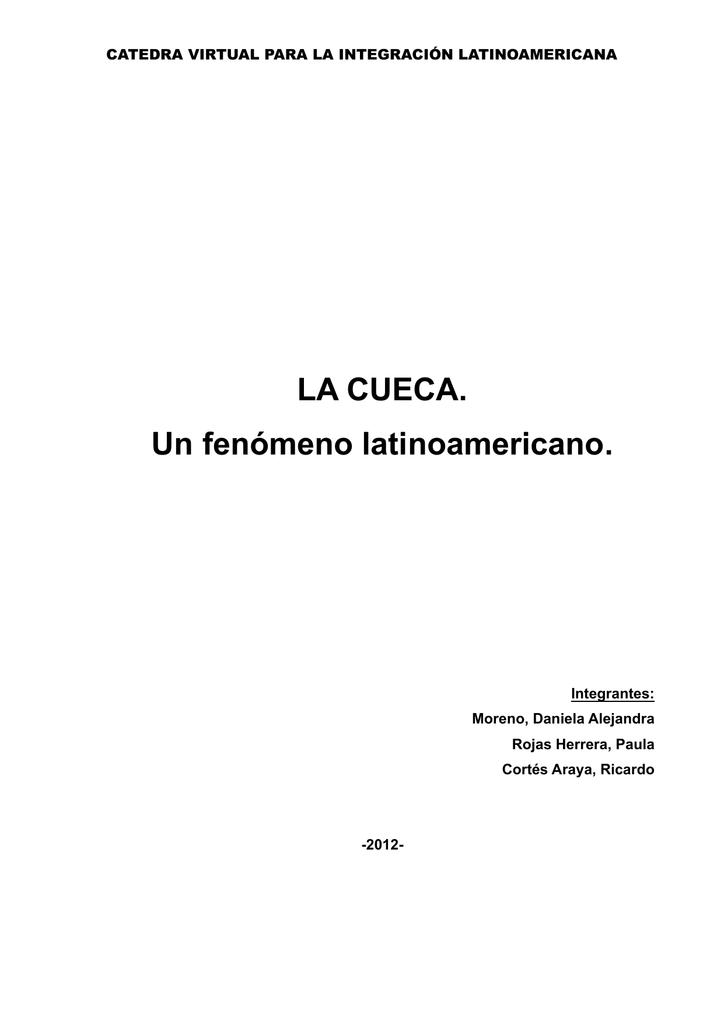 La Cueca Un Fenómeno Latinoamericano