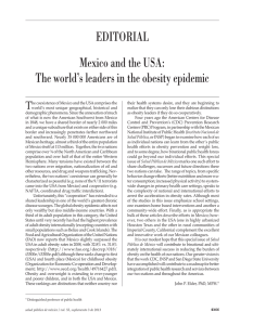 Mexico and the USA: The world`s leaders in the obesity epidemic